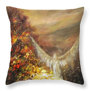 Protecting Mother Earth Throw Pillow