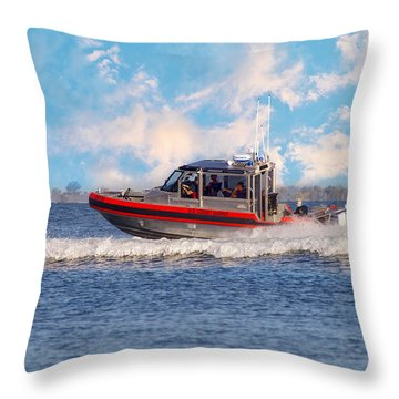 Protecting Our Waters - Coast Guard Throw Pillow