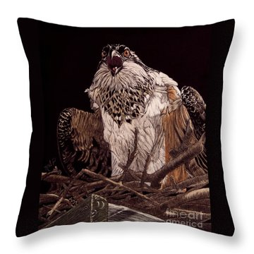 Protecting The Nest Throw Pillow