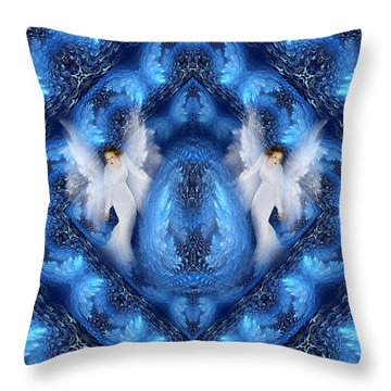 Protecting The Pineal Gland - Meditation Art  By Giada Rossi Throw Pillow