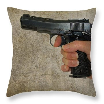 Protecting Your Home Throw Pillow by Charles Beeler