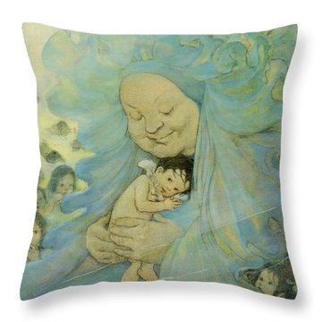 Protection Circa 1916 Throw Pillow by Aged Pixel