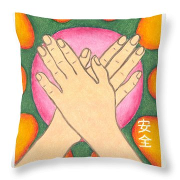 Protection - Mudra Mandala Throw Pillow