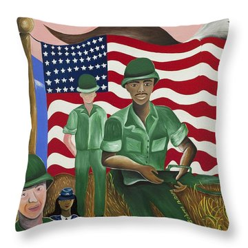 Protectors Of Dreams Throw Pillow by Patricia Sabree