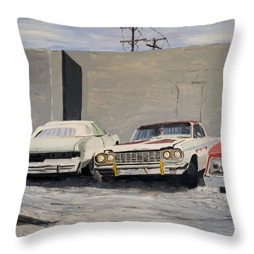 Proto Low Riders Throw Pillow by Patricio Lazen