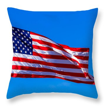 Proud And Free Throw Pillow by Doug Long