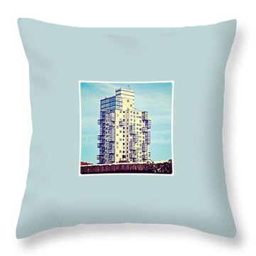 Proud Building Throw Pillow