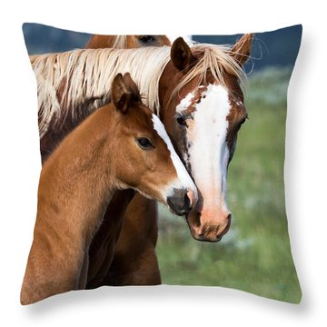 Proud Mommy Throw Pillow