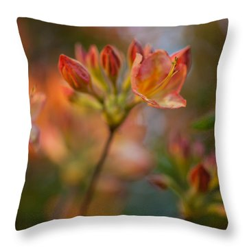 Proud Orange Blossoms Throw Pillow by Mike Reid