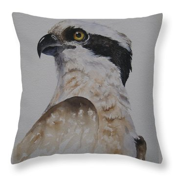 Proud Osprey Throw Pillow