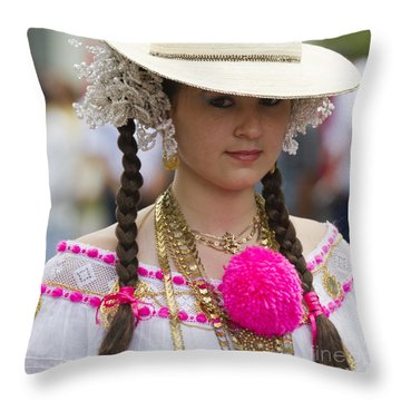 Proud Panama Lady  Throw Pillow by Heiko Koehrer-Wagner