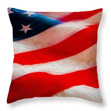 Proud To Be American Throw Pillow by Jon Neidert