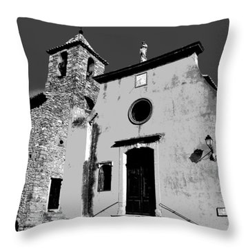 Provencal Church  Throw Pillow