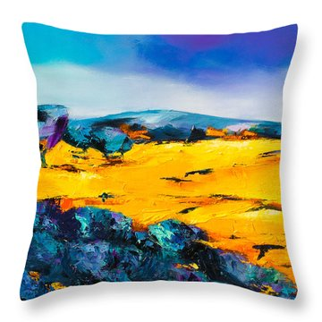 Provence Colors Throw Pillow