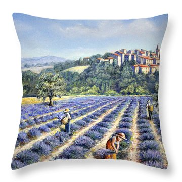 Provencal Harvest Throw Pillow