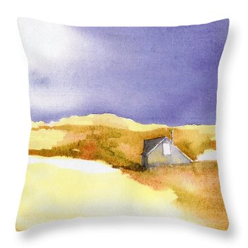 Provincetown Dune Shack Throw Pillow by Joseph Gallant