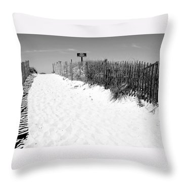Provincetown Dunes On Cape Cod Throw Pillow by Caroline Stella