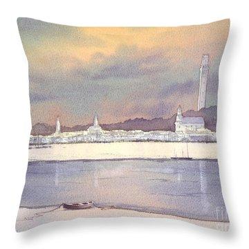 Provincetown Evening Lights Throw Pillow