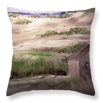 Provincetown Landscape Throw Pillow by Joseph Gallant