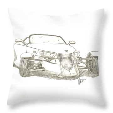 Prowler Sketch Throw Pillow by Chris Thomas