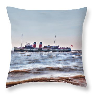 Ps Waverley Leaves Penarth Pier 2 Throw Pillow by Steve Purnell
