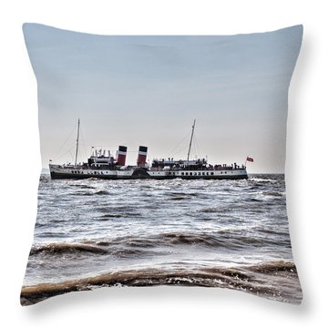 Ps Waverley Leaves Penarth Pier Throw Pillow by Steve Purnell