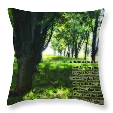 Psalm 104 Throw Pillow