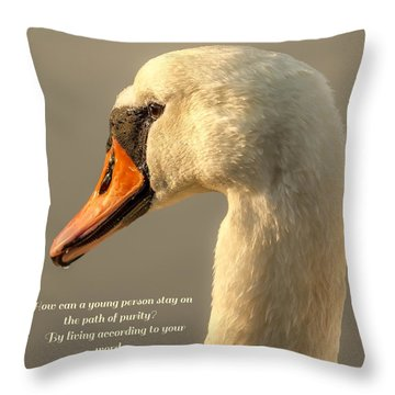 Throw Pillow featuring the photograph Psalm 119 Verse 9 by Rose-Maries Pictures