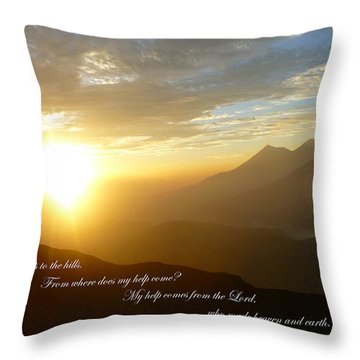 Psalm 121 1 2 C Throw Pillow by Nicki Bennett