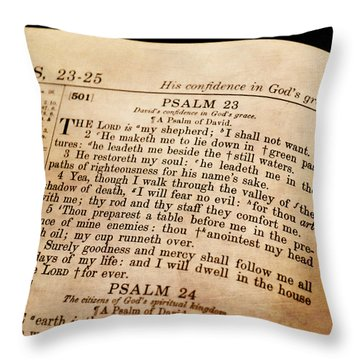 Psalm 23 - The Lord Is My Shepherd Throw Pillow