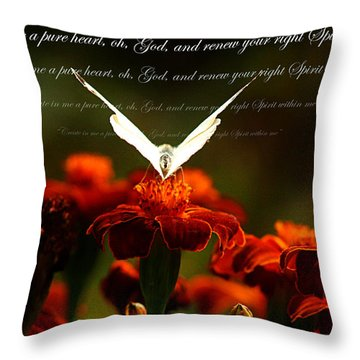 Throw Pillow featuring the photograph Psalm 51 10 by Emanuel Tanjala