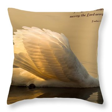 Throw Pillow featuring the photograph Psalm 6 Verse 9 by Rose-Maries Pictures