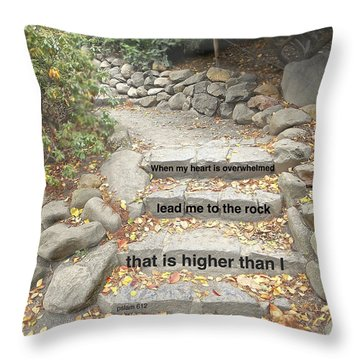 Psalm 61 2 Throw Pillow by Joan Reese