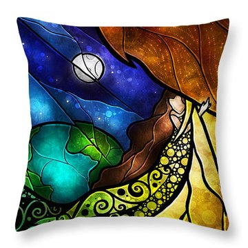 Psalm 91-4 Throw Pillow by Mandie Manzano