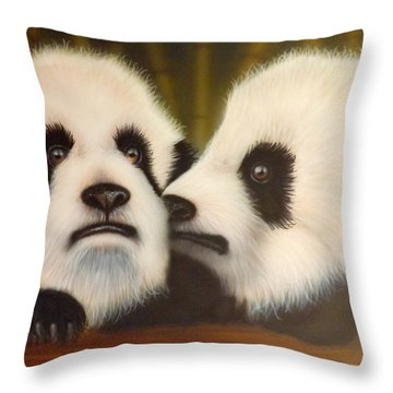 Pssst... Throw Pillow