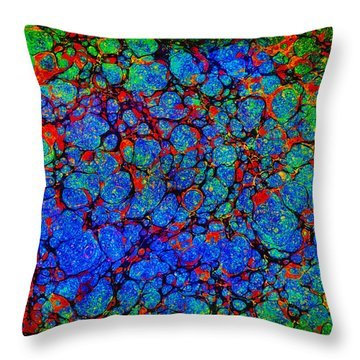 Psychebubbles Throw Pillow