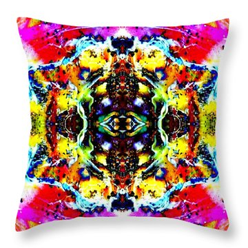 Psychedelic Abstraction Throw Pillow