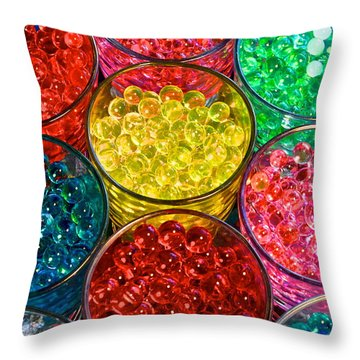 Psychedelic Beads Throw Pillow by Frozen in Time Fine Art Photography