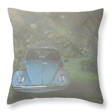 Psychedelic Bug Throw Pillow by Diannah Lynch