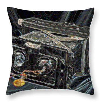 Psychedelic Double Vision Throw Pillow