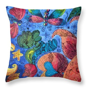 Psychedelic Dreamscape Throw Pillow