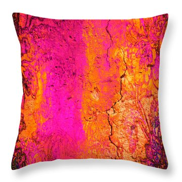 Throw Pillow featuring the digital art Psychedelic Flashback - Late 1960s by Absinthe Art By Michelle LeAnn Scott