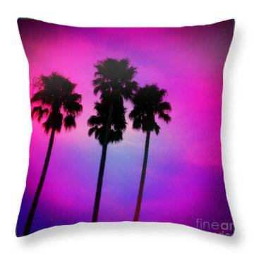 Psychedelic Palms Throw Pillow