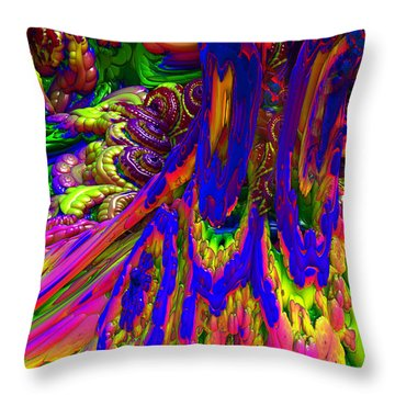 Throw Pillow featuring the digital art Psychedelic Pastries by Arlene Sundby