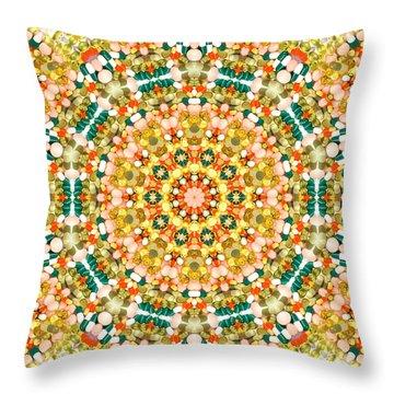 Psychedelic Pattern Throw Pillow by Jose Elias - Sofia Pereira