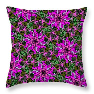 Throw Pillow featuring the digital art Psychedelic Pink by Elizabeth McTaggart