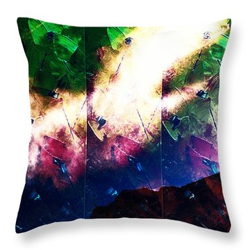Psychedelic Ski Jump Throw Pillow