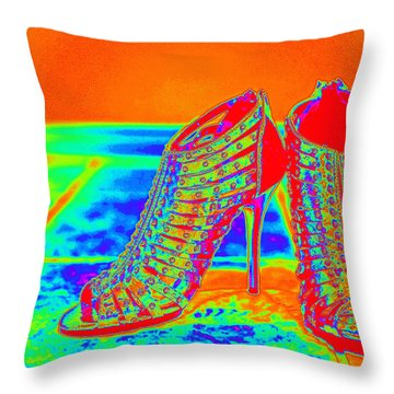 Psychedelic Stilettos Throw Pillow