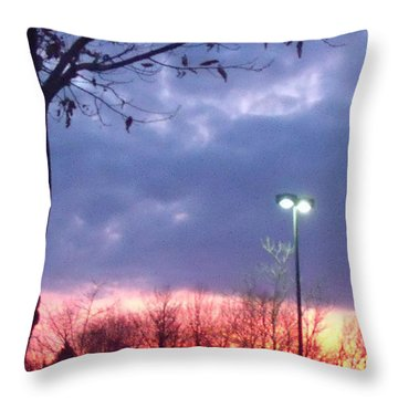 Throw Pillow featuring the photograph Psychedelic Sunset by Lyric Lucas