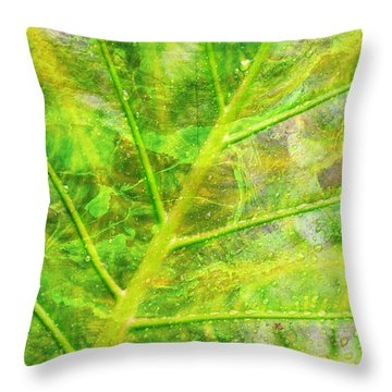 Psychedelic Venation Throw Pillow by Floyd Menezes